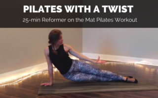 reformer on the mat pilates video