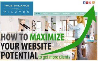 maximize pilates website