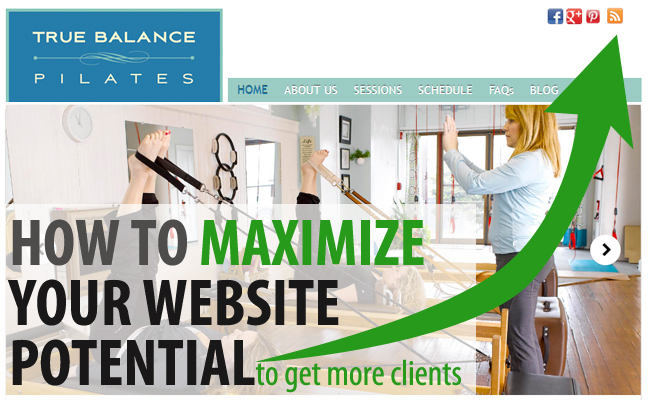 maximize pilates website