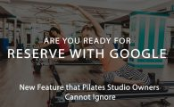 reserve with google for pilates studios