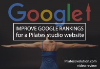 improve google rankings for a pilates website