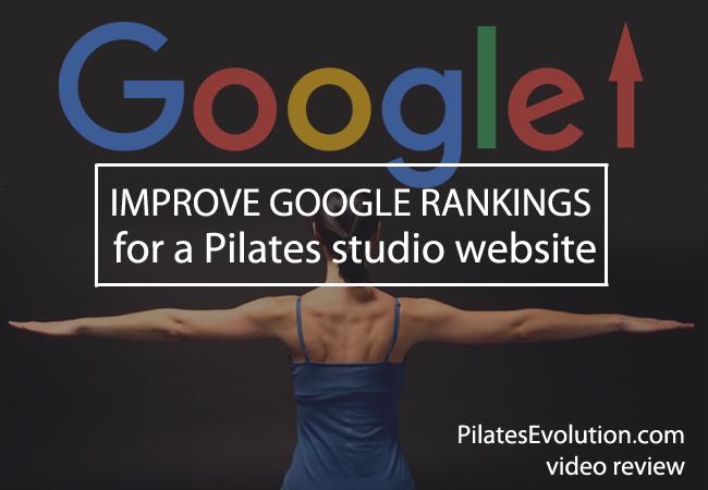improve google rankings for a pilates website