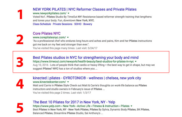 top 10 pilates nyc